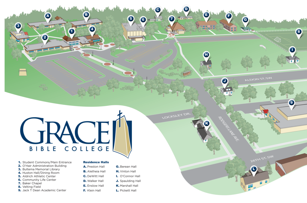 Campus Map – Grace Christian University