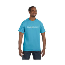 Tee – Grace Christian University Blue Tee