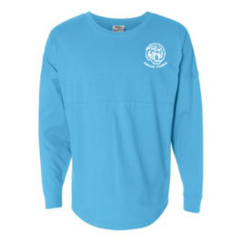 Oversized Long Sleeve Tee – Blue